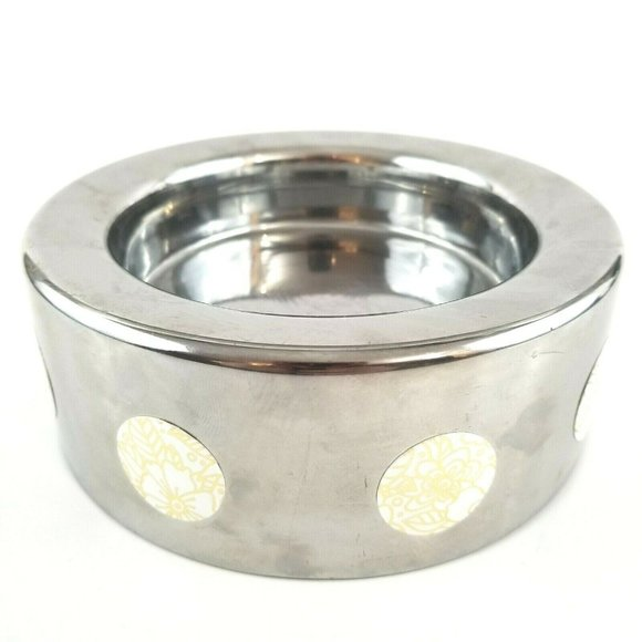 Yankee Candle Large Jar Round Holder Stand Silver